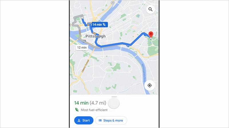 ruta más sostenible Google Maps