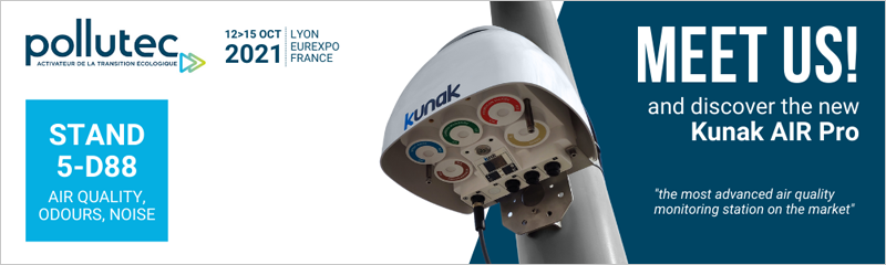 Kunak presentará en Pollutec 2021 Kunak AIR Pro.